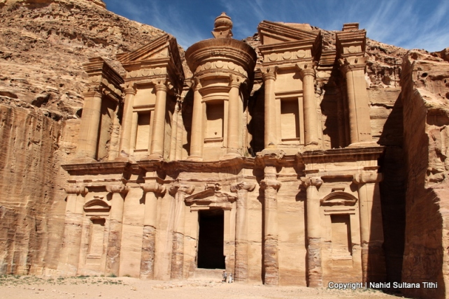 Monastery in Petra, Jordan - carved by the Nabataeans in 85 BC