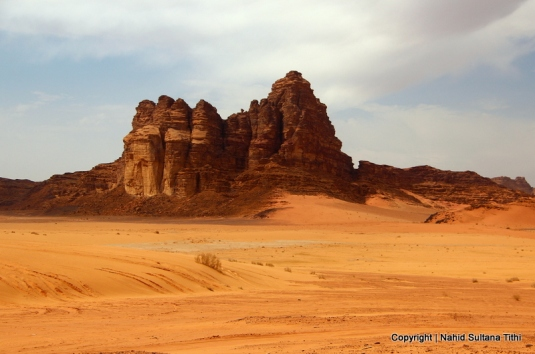 A nice afternoon in the desert of Wadi Rum, Jordan