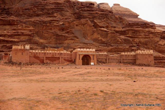 "Castle that was built for the movie ""Lawrence of Arabia"" in 1962 in Wadi Rum, Jordan"