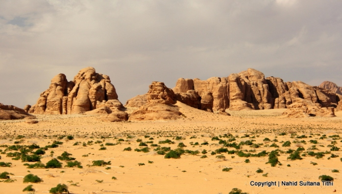 Vast and empty land of Wadi Rum, Jordan
