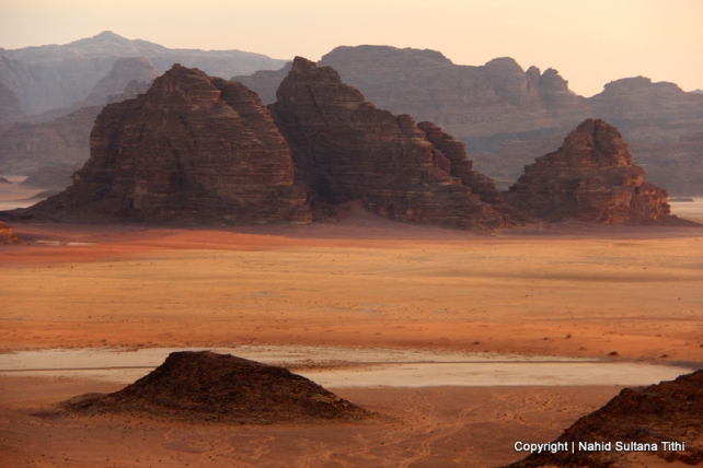 Amazing landscape of Wadi Rum, Jordan - it does look like the surface of the moon