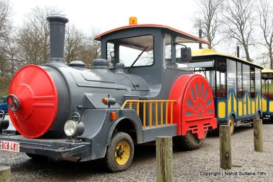 Tourist train in Citadelle de Namur, Belgium