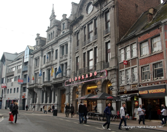 One of the major shopping streets of Namur - Rue de Fer