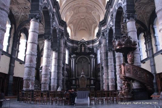 Inside Church of St. Loup, Namur