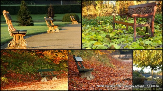 Benches of different parks from all over Europe