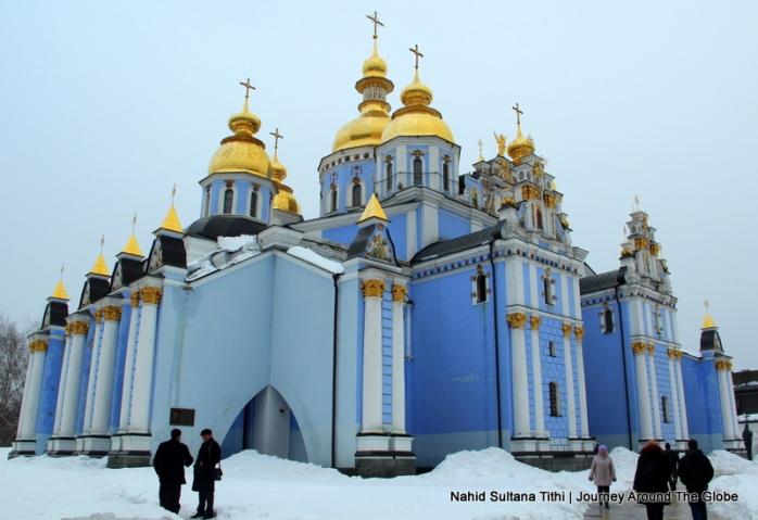 St. Michael's Golden-Dome Cathedral in Kiev, Ukraine