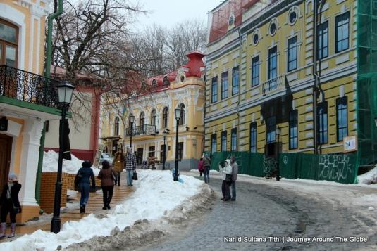 Charming path of Andrew's Descent in Kiev, Ukraine