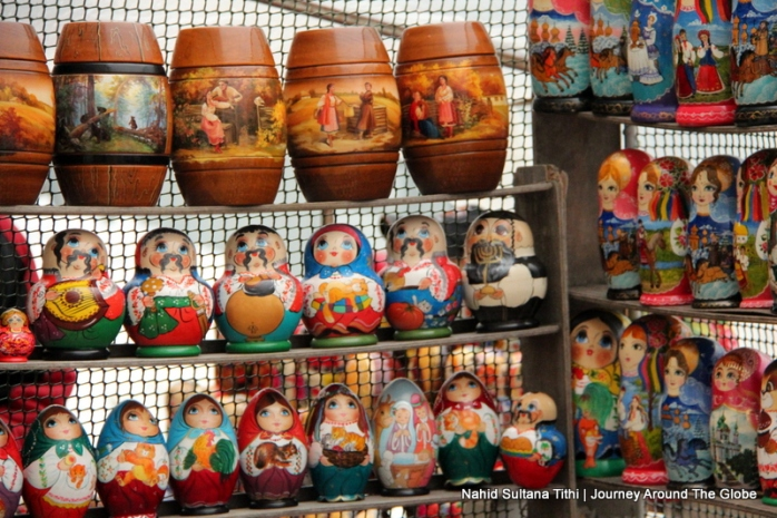 "Russian dolls ""Matrioshka"" in Kiev, Ukraine"