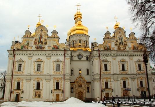 The cathedral inside Perchska Lavra in Kiev, Ukraine