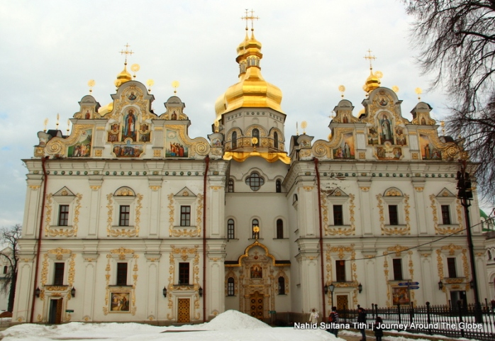 The cathedral inside Perchska Lavra in Kiev, Ukraine