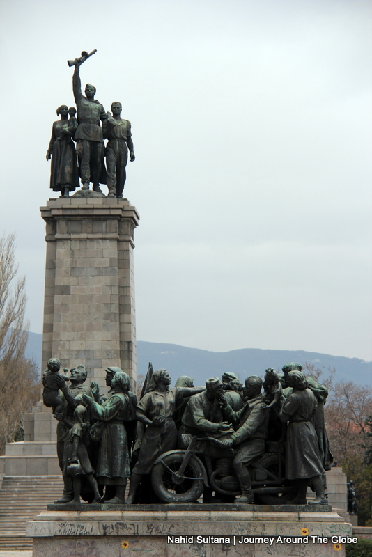 A War Memorial while roaming the city in Sofia, Bulgaria