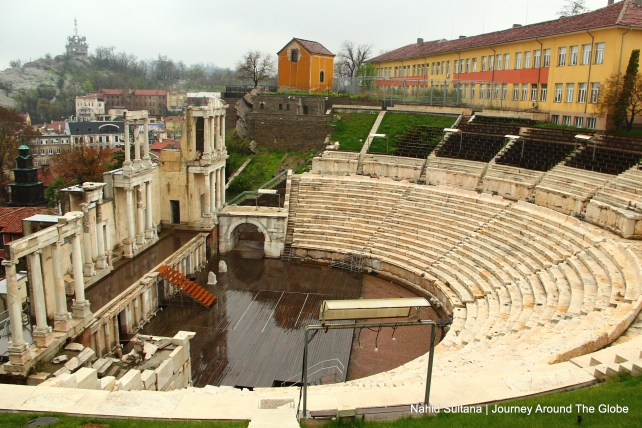 Roman amphitheater from the 1st century in Plovdiv, Bulgaria