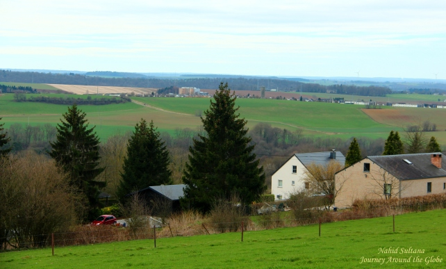 A beautiful day in Wallonia, on our way to Dinant from Tervuren, Belgium