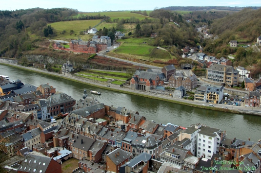 River Meuse and City of Dinant from the citadel in Belgium