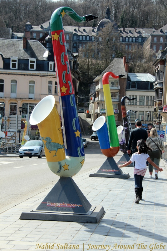 Saxophone bridge in Dinant, Belgium