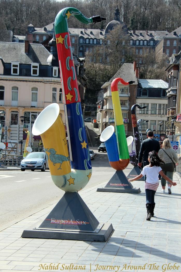 Saxophone bridge in Dinant, Belgium
