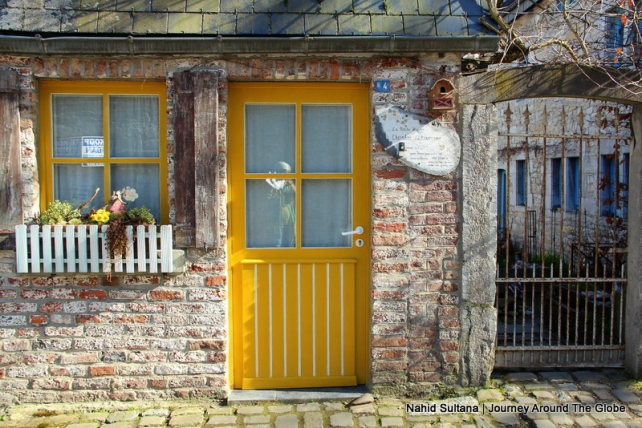 Decorative doors and windows of Durbuy, Belgium