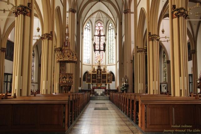 Inside Stiftskirche in Bonn, Germany