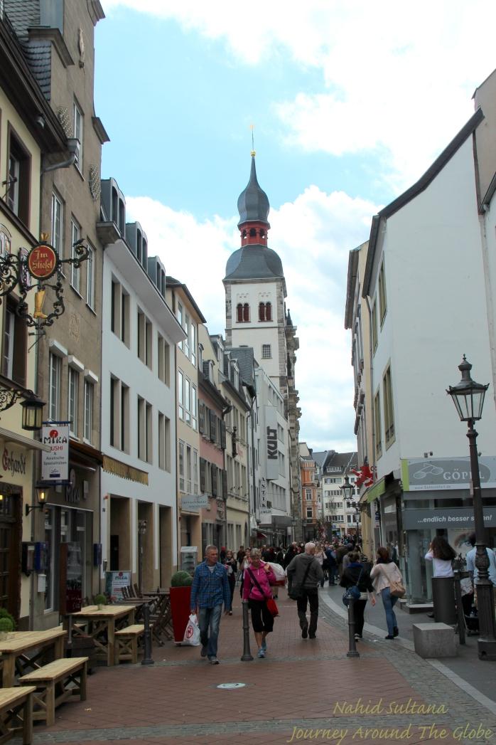 Walking towards city center of Bonn, Germany