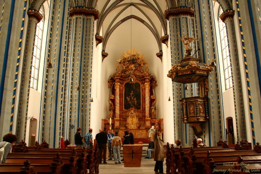 Inside STIFTUNG-NAMEN-JESU-KIRCHE (CHURCH of the HOLY NAME of JESUS in Bonn, Germany