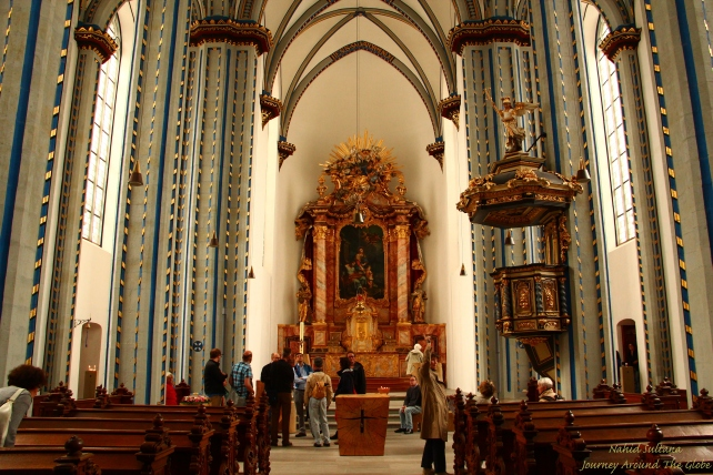 Inside STIFTUNG-NAMEN-JESU-KIRCHE (CHURCH of the HOLY NAME of JESUS in Bonn, Germany