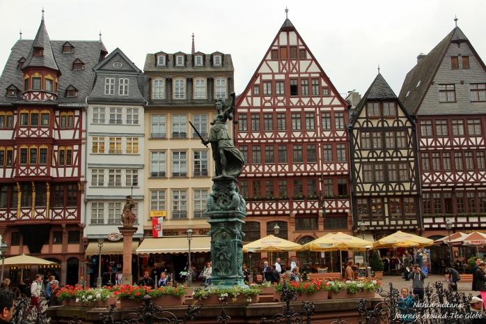 Romerberg, the main square of Frankfurt, Germany