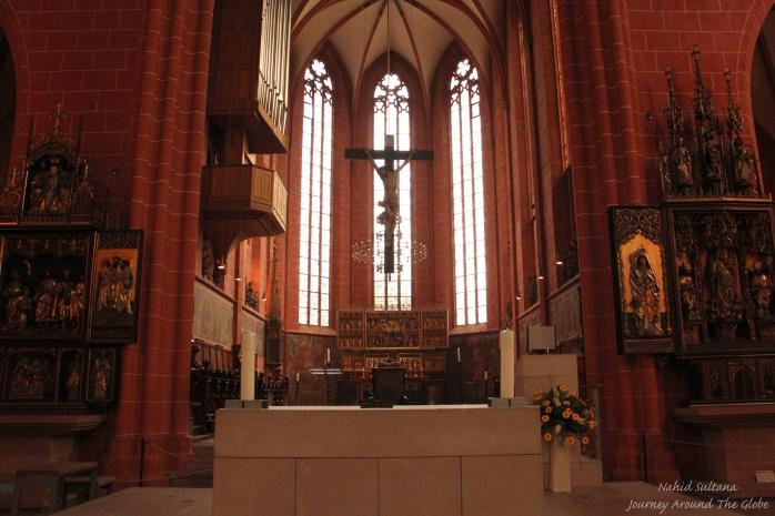 Inside Dom St. Bartholomaus in Frankfurt, Germany