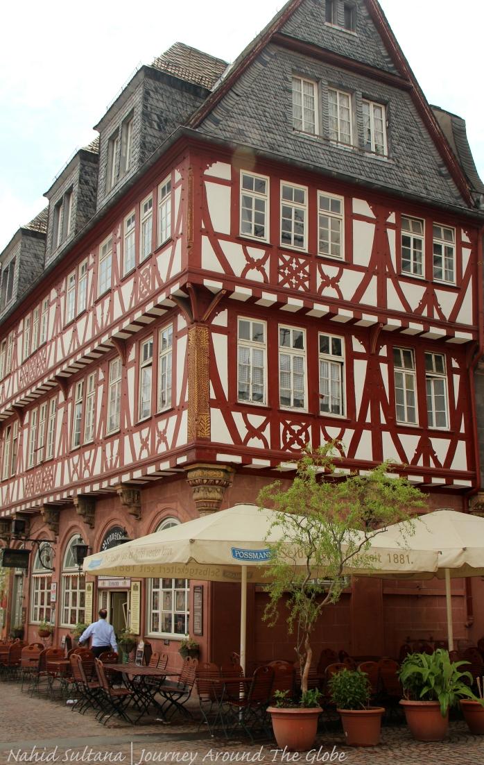 Haus Wertheim from the 16th century in Frankfurt, Germany