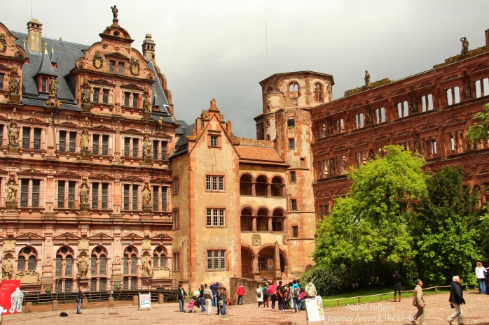 Courtyard of Heidelberg Castle in Germany