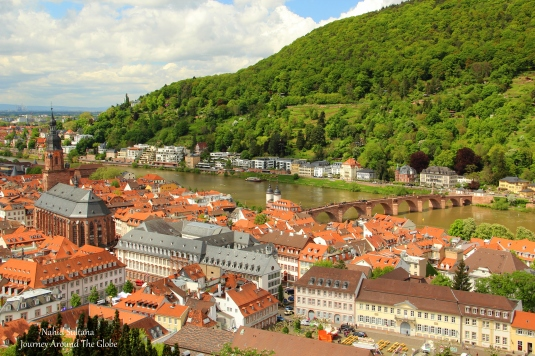 View from the hill of Heidelberg Castle in Germany