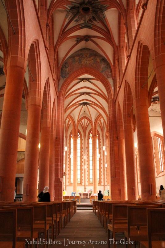 Inside 3)HEILIGGEISTKIRCHE  (Church of the Holy Spirit) in Heidelberg, Germany
