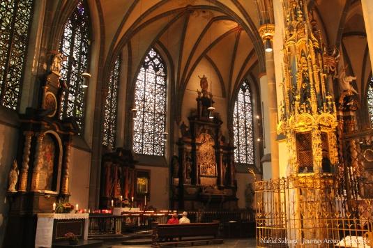 St. Lambertus Basilica in Stiftsplatz in Dusseldorf, Germany