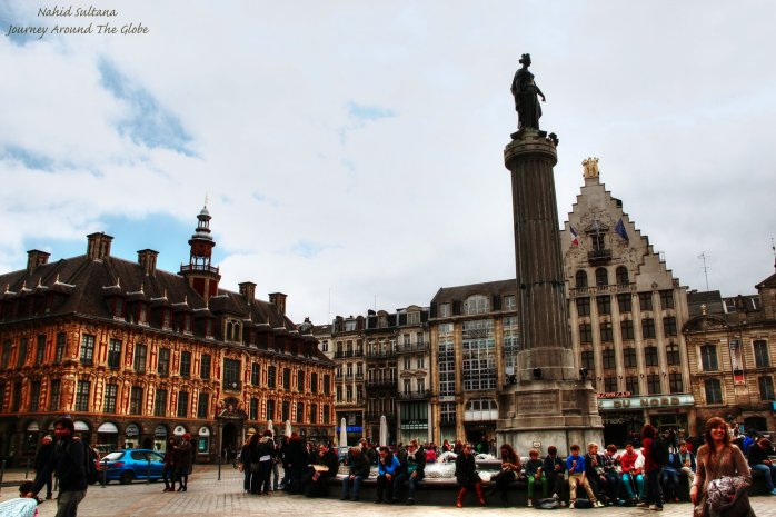 Place du General-de-Gaulle, the main square of Lille, France