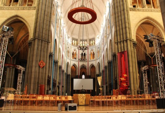 Main altar of Cathedral Notre Dame de la Treille in Lille