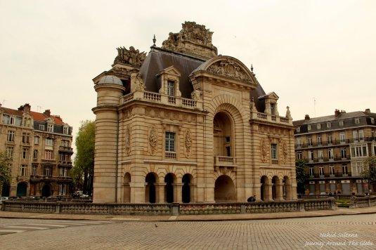 Porte de Paris from 1692 near Hotel d'Ville in Lille, France