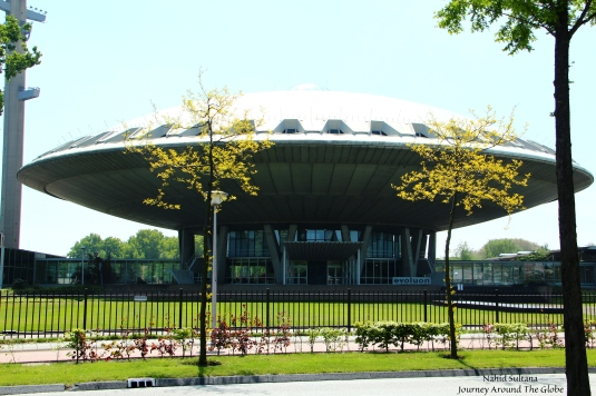 Evoluon - an UFO shaped futuristic building in Eindhoven, The Netherlands