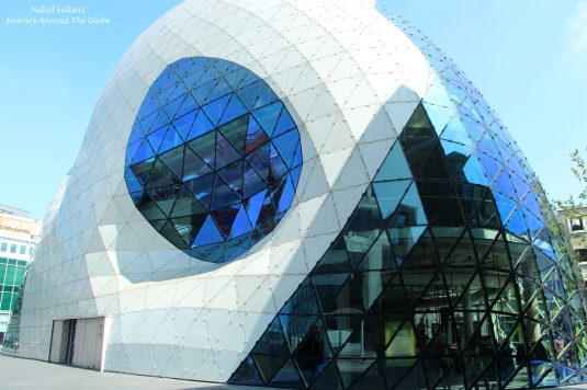 "Another cool architecture ""The Blob"" in ""Around Admirant"" in Eindhoven, The Netherlands"