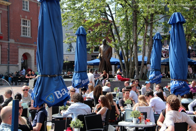 Restaurants in the Markt in Eindhoven, The Netherlands