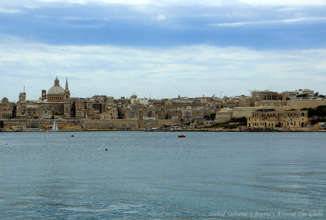 Looking over Valletta from Sliema Harbor in Malta