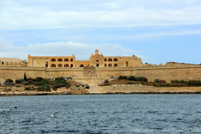 St. Fort Elmo by the Mediterranean Sea in Malta
