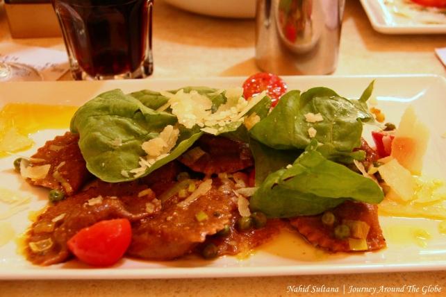 My lunch in Valletta - rabbit ravioli