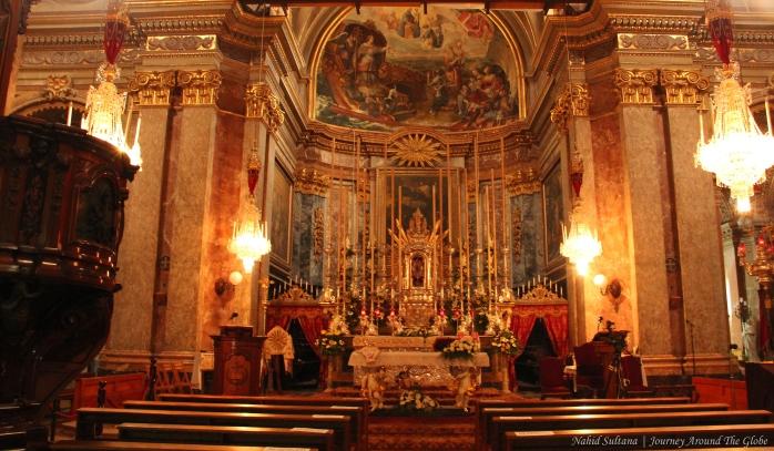 St. Dominic Church in Valletta, Malta