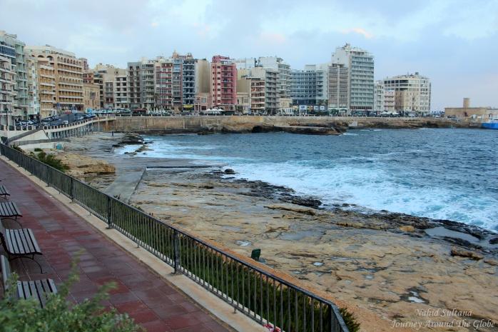 Sliema Promenade by the Mediterranean