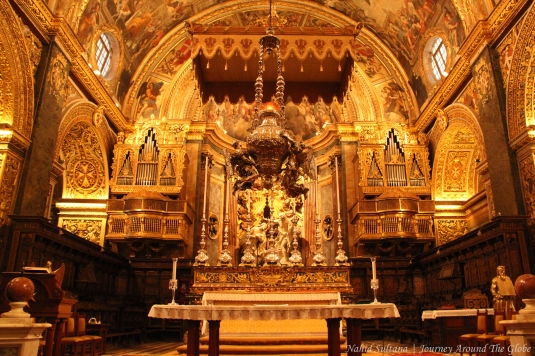 St. John's Cathedral in Valletta, Malta...served as the headquarter of Knights of St. John in 1577