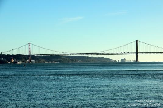 Ponte 25th Avril - a sister bridge of San Francisco Bay Bridge in Lisbon, Portugal