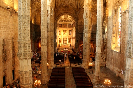 Church in Jeronimos Monastery in Lisbon, Portugal