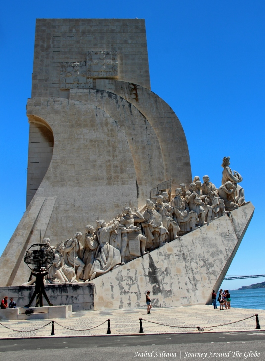 Monument of the Discoveries by River Tagus in Lisbon, Portugal