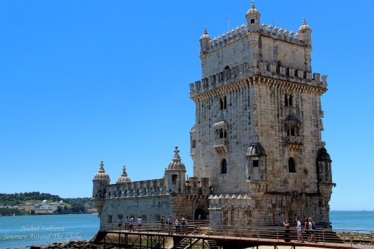 Belem Tower from the 16th century in Lisbon, Portugal