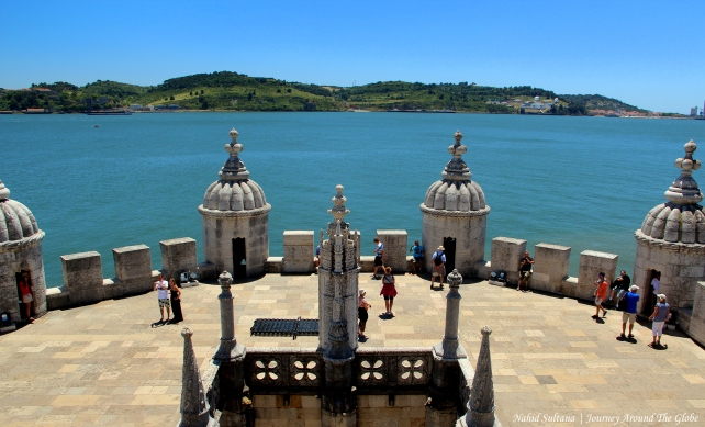 From top of Belem Tower in Lisbon, Portugal