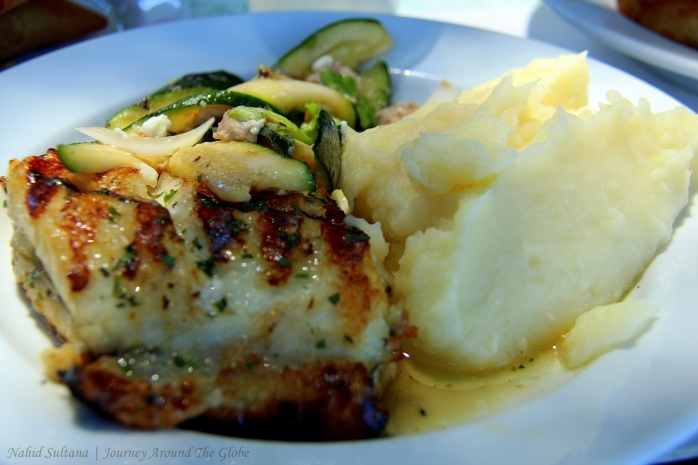 My lunch in Lisbon - grilled swordfish